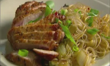 One Pot Meal - Pork Chops with Rice Noodles