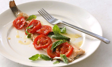 Tomatoes and Basil Trout Baked in Parchment