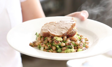 Broiled Pork Tenderloin with Black-Eyed Peas