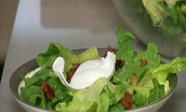 Collard Greens, Fresh Romaine and Bacon Salad