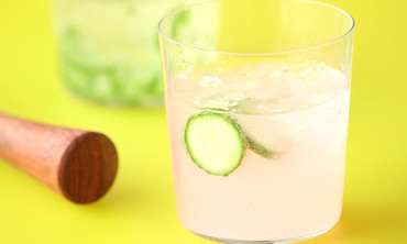 Cucumber-Infused Gin and Grapefruit Cocktail