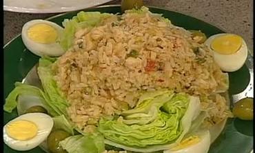 Emeril Lagasse Makes Salt Cod and Rice Salad