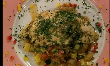 Herb Crusted Snapper with Ratatouille Part 2