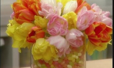 Mother's Day Tulip and Jelly Bean Arrangement