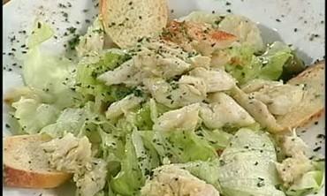 Olive Salad With Garlic Vinaigrette And Crab