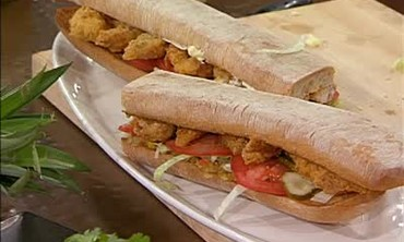 Pan Fried Catfish Po'Boys with Green Tomato