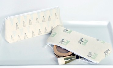 Personalized Makeup Bags with Eraser Stamps