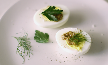 Protein Packed Hard-Boiled Eggs with Mustard