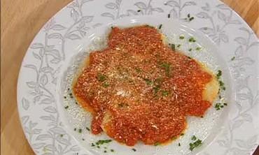 Ravioli Napoletana and an Emerilized Calzone