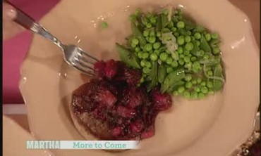 Simple Pork Chops and Rhubarb Compote Supper