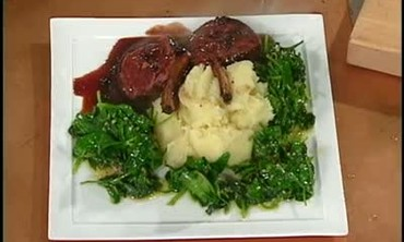 Venison Chops and Yukon Gold Mashed Potatoes