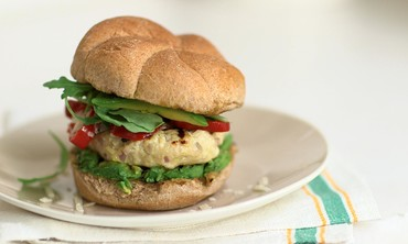 Avocado and Sweet Pepper Turkey Burger Recipe