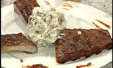 Baby Back Ribs and Potato Salad with Cilantro