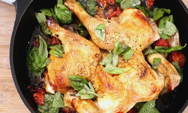 Cast Iron Skillet Spatchcocked Chicken Recipe