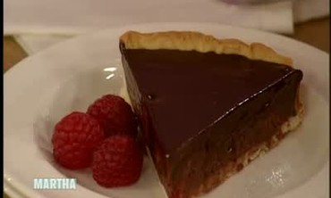 Chocolate and Raspberry Tart with Michel Roux