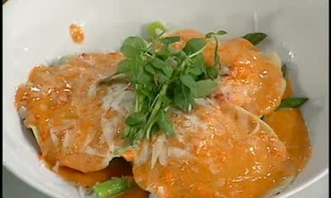 Complete Lump Crabmeat Ravioli with Red Sauce