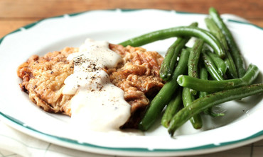 Country Fried Steak with Green Beans