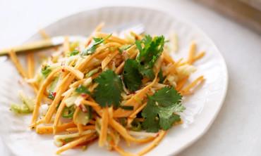 Crunchy Sweet Potato and Apple Julienne Salad