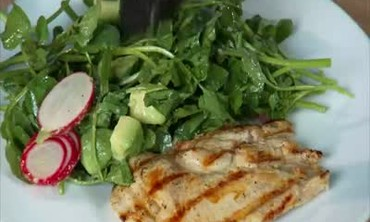 Grilled Chicken Cutlets with Watercress Salad