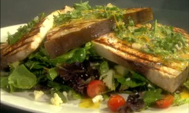 Grilled Swordfish with Fresh Herb Vinaigrette