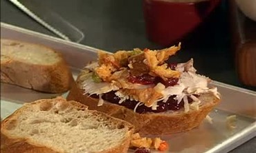 Grilled Turkey Sandwich with Cranberry Relish