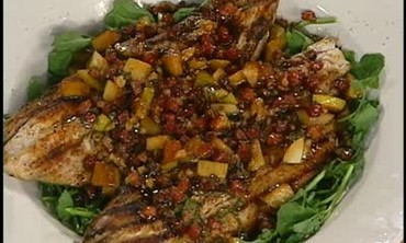 How to Make Grilled Blue Fish on Watercress