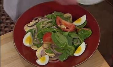 Kid Friendly Spinach Salad with Honey Mustard