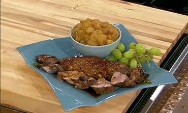 Marinated Pork Tenderloins with Apple Puree