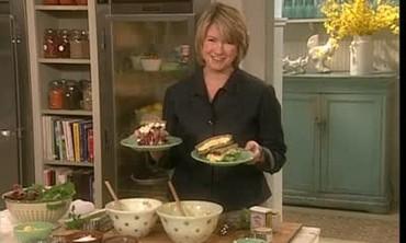 Martha Stewart Prepares an Egg Salad Sandwich