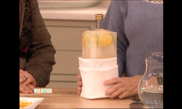 Martha Stewart's Iced Vodka with Citrus Slices