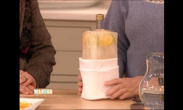 Martha Stewart's Iced Vodka with Citrus Slices