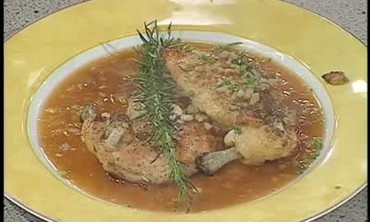 Oyster Dressing Stuffed Chicken and Pecan Pie