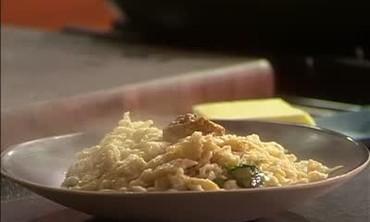 Portugese Potato Soup with Spaetzle Dumplings