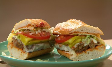 Spicy Meatloaf Po'Boys with Smoked Provolone