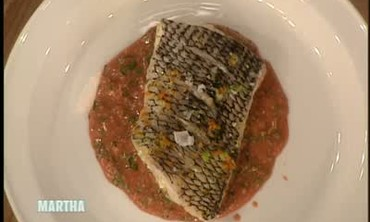 Steamed Black Bass with Sicilian Pesto, Part 2