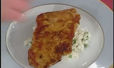 Veal Cutlet with Rice and Green Peas Recipe