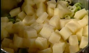 Cream of Leek and Potato Soup with Julia Child