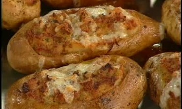 Emeril's Andouille and Cheddar-Stuffed Potatoes