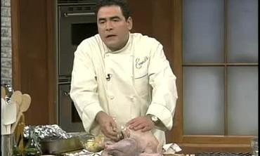 Emeril's Boudin-Stuffed Turkey for Thanksgiving
