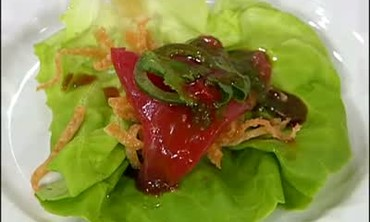 Fresh Tuna Lettuce Wraps with Basil Oil, Part 2
