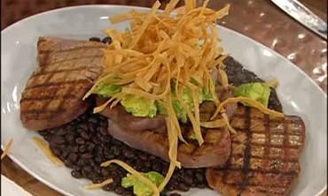 Grilled Tuna Steak and Black Bean Chili Part 2