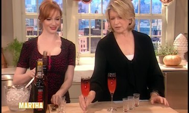 Halloween Cocktails with Christina Hendricks
