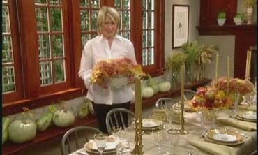 Video how to make a pumpkin centerpiece martha stewart How to set a thanksgiving dinner table
