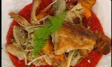 Pan Fried Snapper with Fennel and Salsify Slaw