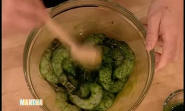 Phillipe Chow's Green Prawns and Noodles, Part 1