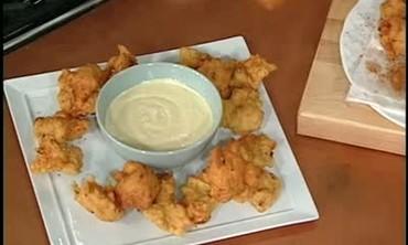 Potato Crusted Catfish with Mirliton Lyonnaise
