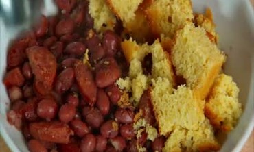 Red Beans with Andouille Sausage and Cornbread