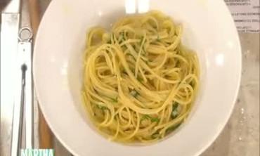 Spaghetti Aglio Oio with Chef Lidia Bastianich