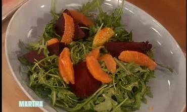 Arugula and Roasted Beet Salad with Goat Cheese