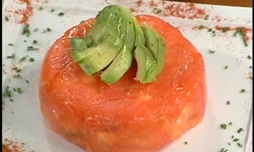 Avocado and Salmon Appetizer with Lobster Salad